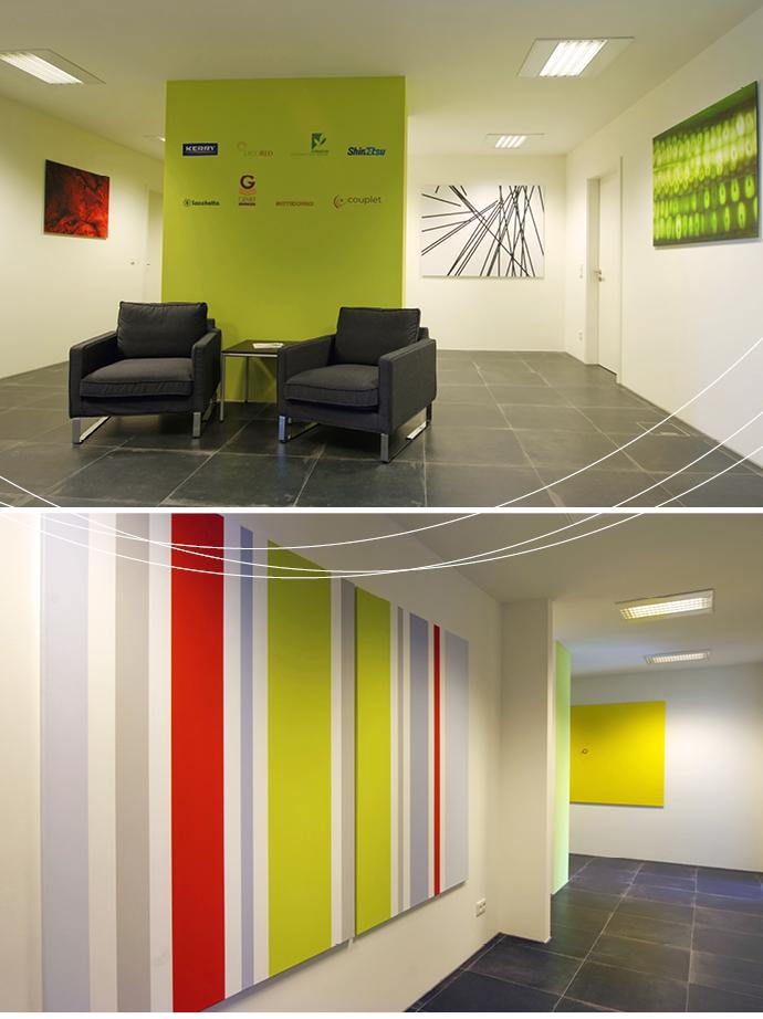 Büro farbgestaltung